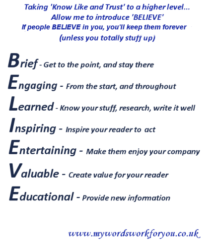 Belief business support poster My Words Work For You