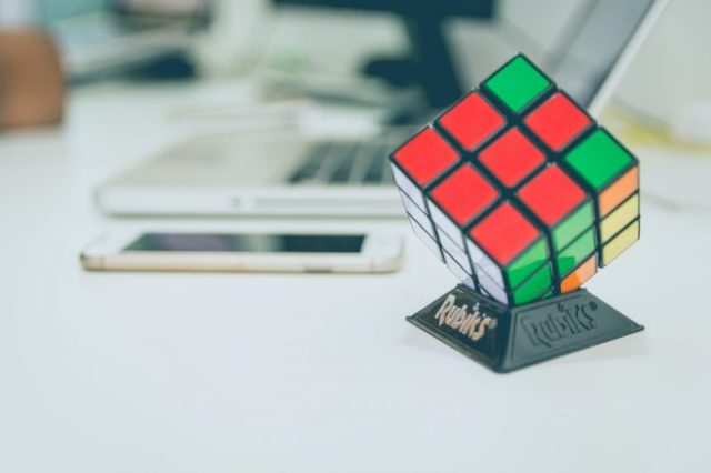 Rubik's Cube on stand Stock Control Small Business Support