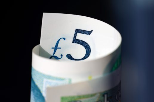 £5 Note rolled up ways to save money and not overspend My Words Work For You Business Support