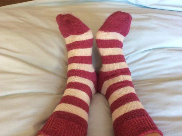 Stripey Alpaca Wool Socks